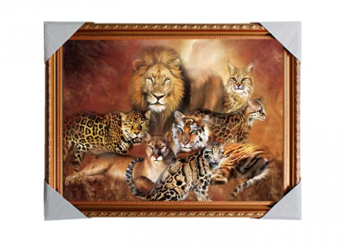 PS Frame Stock  3D PET Lenticular Printing Services Wall Decorative Picture