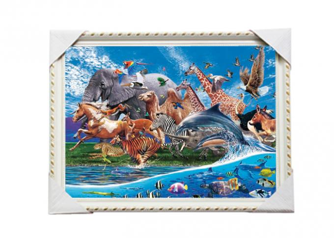 3D Art Custom Lenticular Printing Pictures Offset Print PS Frame For Home Decorative