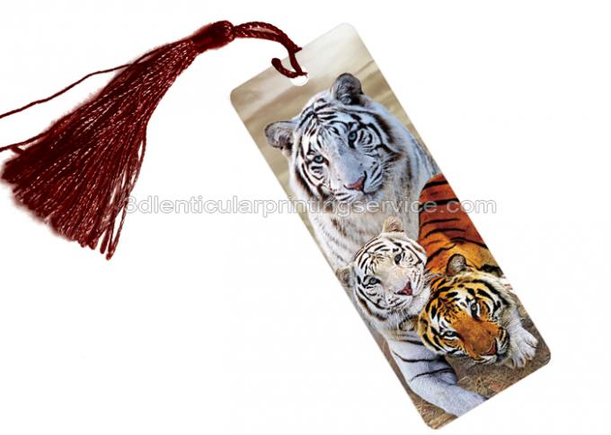 PET Type Souvenir 3D Lenticular Bookmarks Customized 3D Lenticular Prints