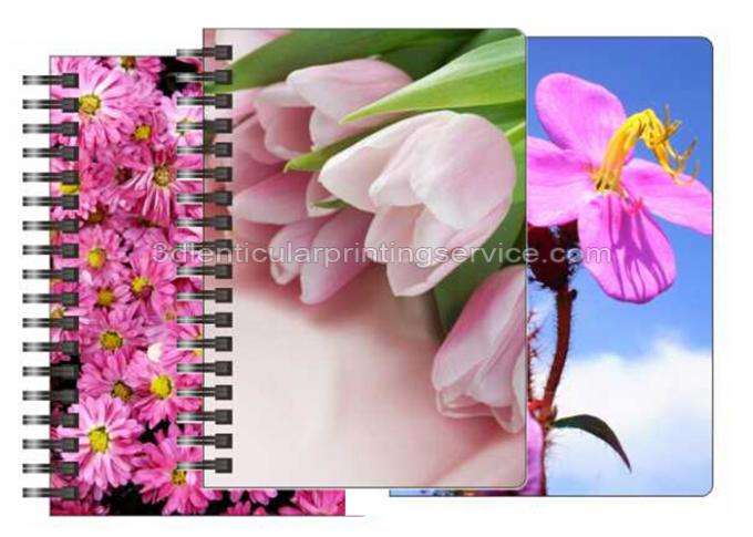 Stationery Diary A4 Size Notebooks 3D Lenticular Cover Of Famous Views