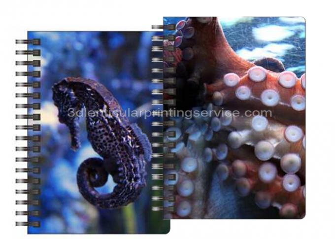 0.6mm PET Material 3D Lenticular Notebook For Office Stationery