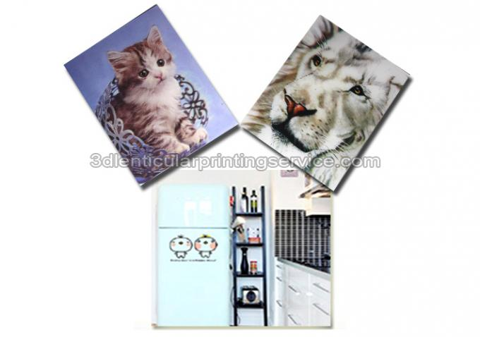 Cartoon PP PET PVC Image 3D Lentiuclar Magnets UV Printing Souvenir