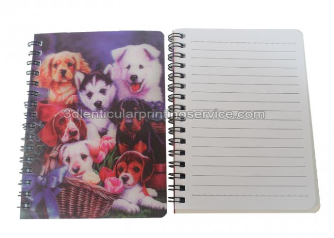 PET / PP Jotter 3D Lenticular Notebook A5/A6 Size UV  Printing for School
