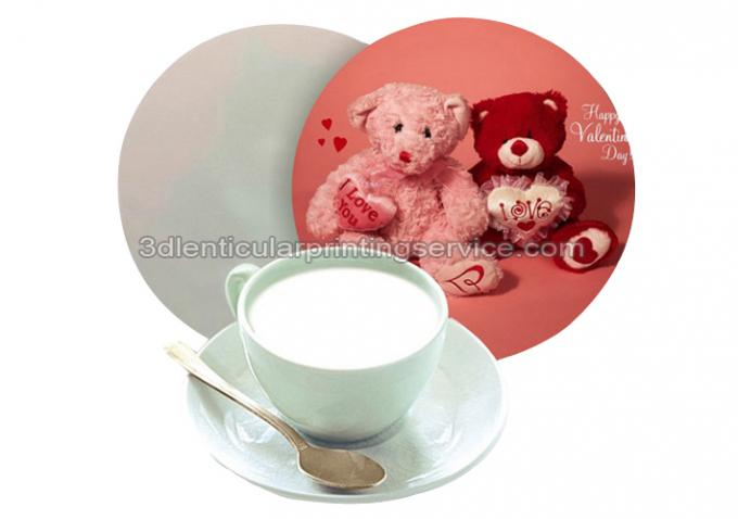 Durable 0.6mm PET/PP 3D Lenticular Coasters UV Offset CMYK Printing