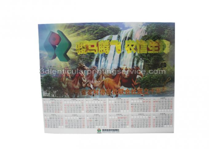 Calendar 3D Custom Lenticular Poster  For Advertising , 3 Dimensional Poster