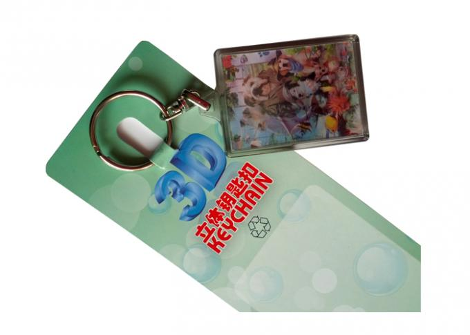 3D Animal Card Keyrings Lenticular Printing Services For Kids Gift