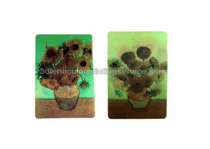 Beautiful Flower Design 3D lenticular postcard printing PET/ PP Landscape