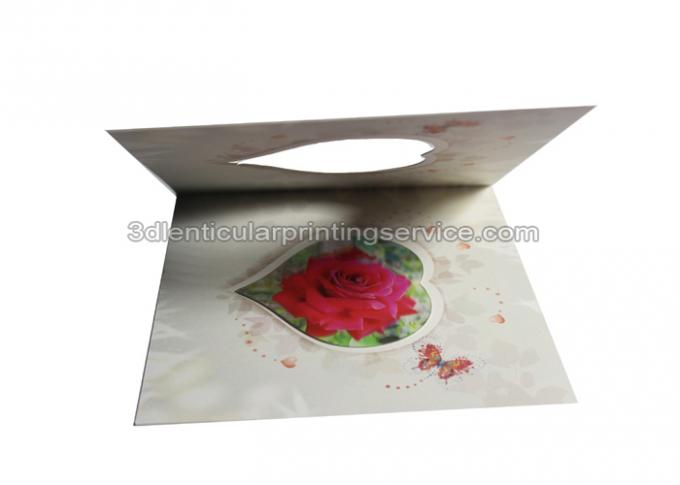 Customised Valentine'S Day Greeting 3d Lenticular Card Offset Printing In PP Plastic