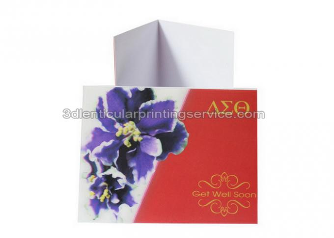Change Effect 3D Lenticular Printing Service 0.6mm PET 3d Greetings Cards