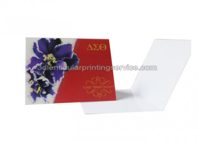 Visting custom lenticular cards PET 3D And Flip Changing Design CMYK Printing