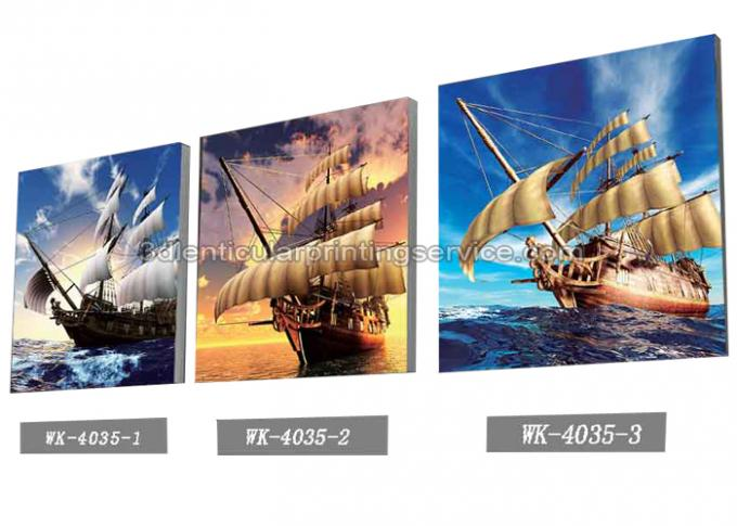 Sea World Pictures Lenticular Printing Services 3D Picture House Decoration