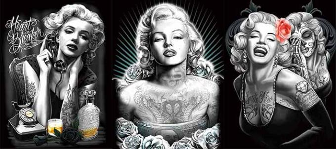 Charming Star Marilyn Monroe poster Lenticular Flip With 3 Changing Images For Art Decoration