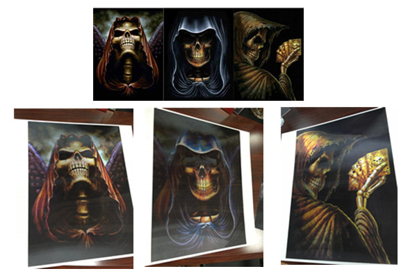 3 Different Images Of Grim Ripper  Lenticular Flip With 30x40cm For House Decoration