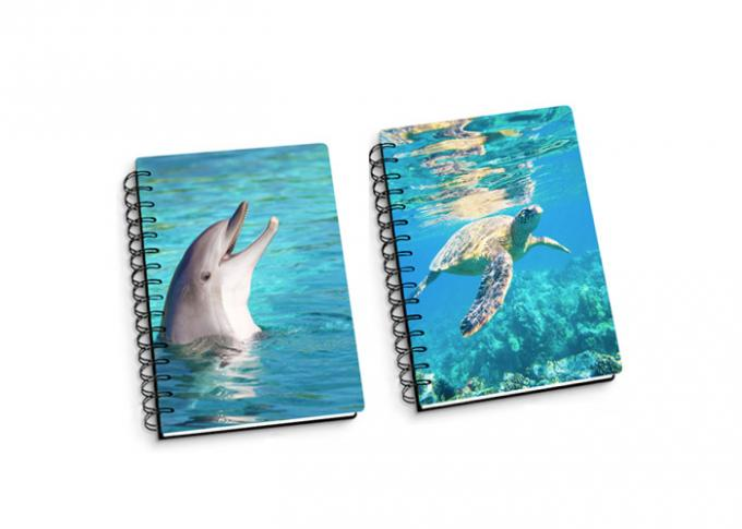 Customize A4 / A5 / A6 3D Spiral Flip Notebook Lenticular Flip For School Student