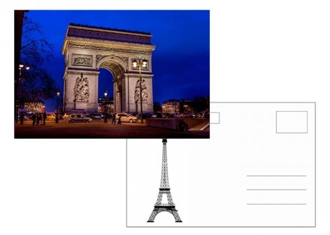 11x16cm Paris Eiffel Tower Day - Night 3D Lenticular Postcard With CMYK Printing