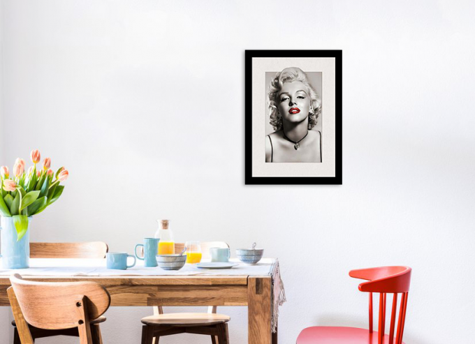 Marilyn Monroe Portrait And Flowers & Birds 3D Lenticular Image 30 x 40cm Frame Art Prints