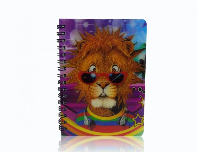 Big Size A4 3D Lenticular Notebook Custom Printing 80g Inner Pages
