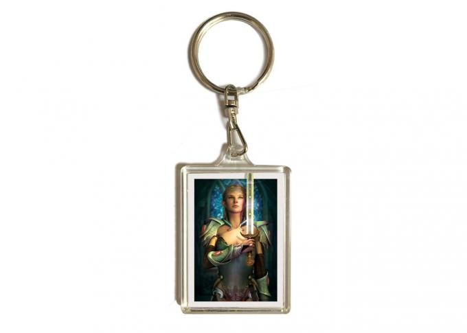 3.7x5.7cm 3D Lenticular Printing Service For Gifts / Acrylic Keychain With Dolphin