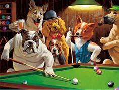 Dogs Animal 3D Lenticular Poster For Hotel Decoration With 40x40cm Size