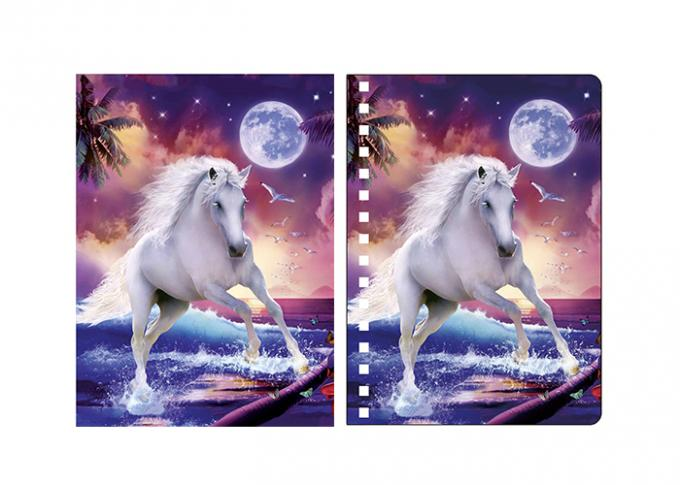 Promotion 0.6mm PET Lenticular Animal Notebook Covers With 3D Deep Effect