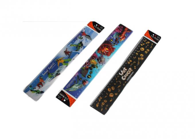 Custom 3D Stationery Lenticular Ruler With Logo Promotional Gift