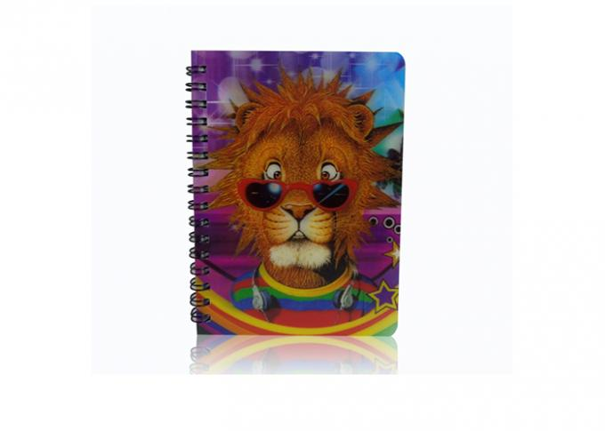 Light Weight 3d Cover Notebook / Custom Design Lenticular 3d Poster Notebook