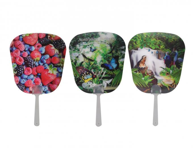 16x17cm Hand Fan 3D Lenticular Printing Service 3D Deep For Summer Season