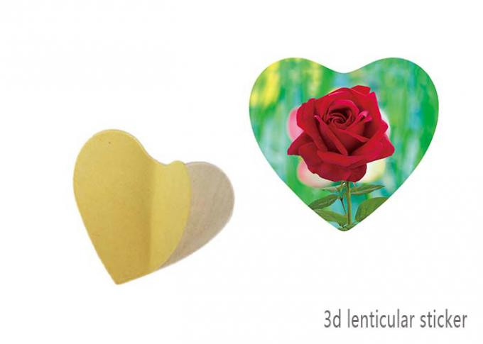 Heart - Shaped Adhesive 3D Lenticular Stickers With Sea Animal Design