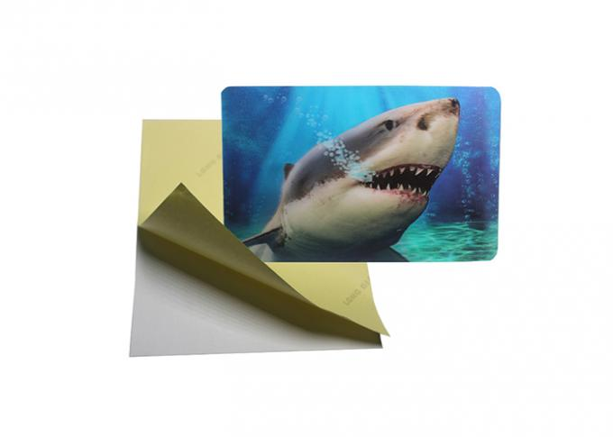 Self - Adhesive Kids 3D Lenticular Stickers / Holographic Sticker Printing Flip Effect