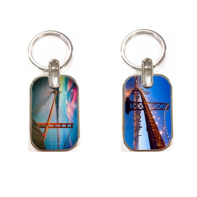 3D Lenticular Image PET Personalised Photo Keyrings For Promotional Gift
