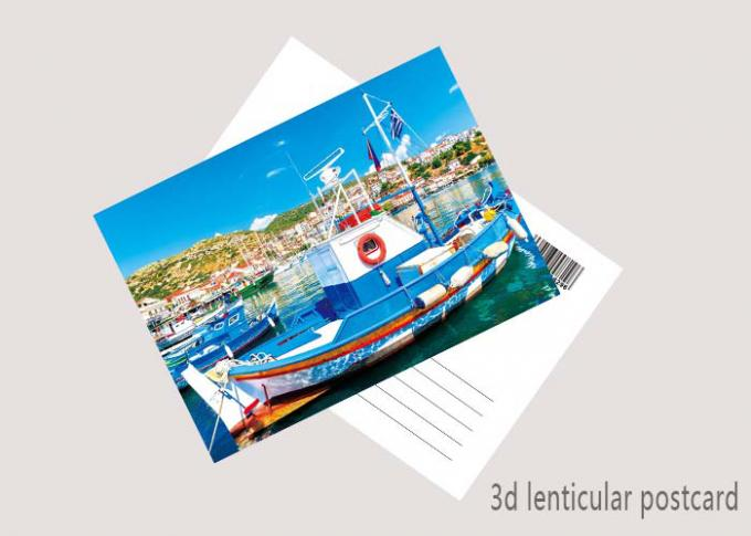 Customized 3D Lenticular Postcard Printing For Holiday Decoration Gift