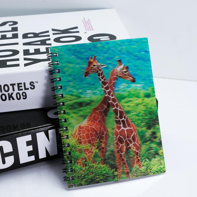 A4 3D Lenticular Notebook Eco - Friendly Material / Personalised Bookmarks For Schools