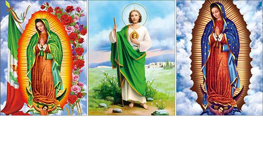Jesus Design God 3D Lenticular Flip Effect With CMYK Printing Size 30*40cm