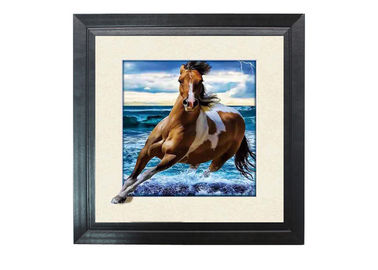 China Running Horse Image 3D Lenticular Printing Service MDP Frame 5D Effect supplier