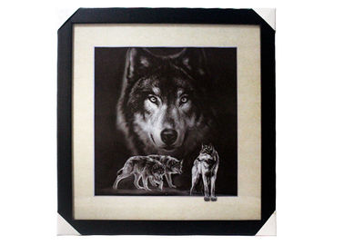 China Stock 5D pictures with Frame 3D Lenticular Pictures Popular Wolf Image supplier