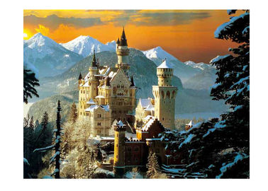 China Stock Neuschwanstein Castle 3D Lenticular Living Room Painting Picture PET Printing supplier