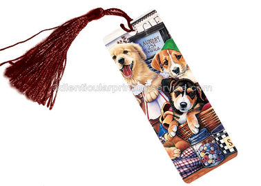 China PET 3D Lenticular Personalised Book Marks  With CMYK Printing 0.65 Mm Thickness supplier