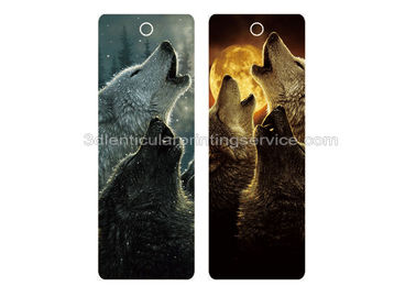China Custom Plastic 3D Lenticular Bookmark With Flip Effect CMYK Printing supplier