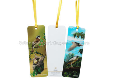 China Cartoon Design Offset Prining 3d  Custom Printed Bookmarks Plastic PET For Kids supplier