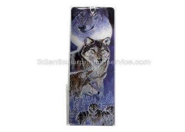 China Promotional Plastic PP 3D Lenticular Bookmark Flip Animal UV Printing supplier