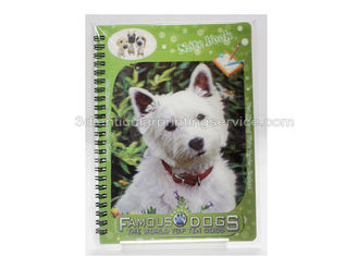 China 3D PET/PP/PVC Notebooks 3d Lenticular Cover A6 Jotter For Gift / Premium supplier
