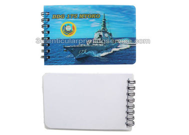 China Mini Note Pad 3D Lenticular Notebook PET Cover Souvenir For Office supplier