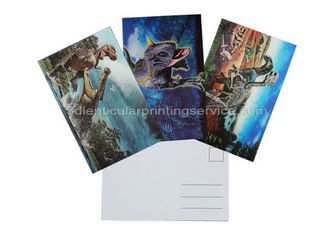 China Dinosaur Design 3D Lenticular Postcard 3D Souvenir For Museum supplier