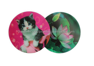 China Customized Flip Effect 3D Lenticular Placemats Coasters Waterproof For House Decoration supplier