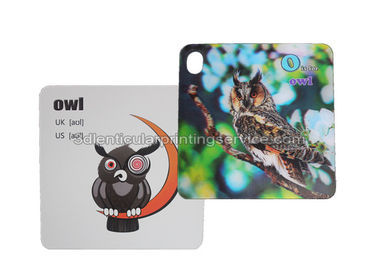 China 3D Flash Card Lenticular 3d Pictures Animal Design For Kids Gift supplier