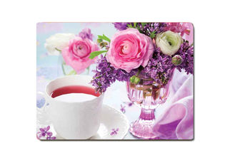 China Decorative Flower PET Printing 3D Lenticular Plastic Table Mats Offset Printing supplier