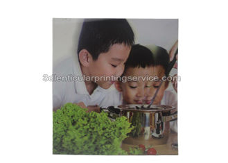 China Eco - friendly PET 3D Lenticular Poster with Flip Effect 100LPI 75LPI supplier