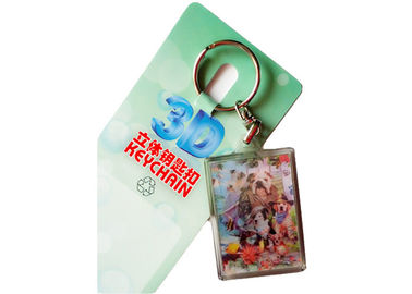 China 3D Keychain Custom Lenticular Cards Printing Service For Gift And Premium supplier