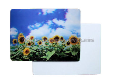 China Beautiful Flower Design 3D lenticular postcard printing PET/ PP Landscape supplier