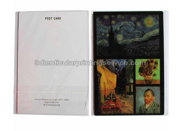 China Vincent Van Gogh Artwork 3d Lenticular Picture Postcard UV Offset Printing supplier